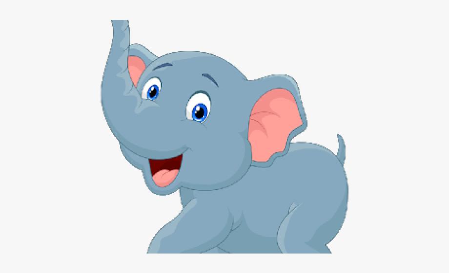 Baby animal blue cartoon. Animals clipart elephant