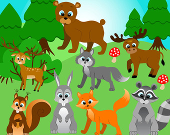 Woodland clipart sad. Free forest animal cliparts