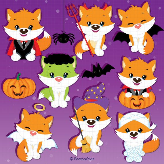 Animals clipart halloween.  best digital art