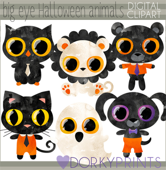 Animals clipart halloween. Big eye by dorky