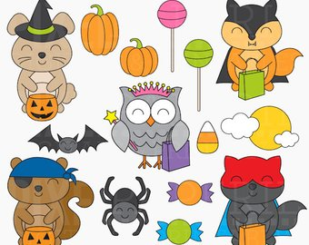 Animals clipart halloween. Raccoon animal woodland creatures