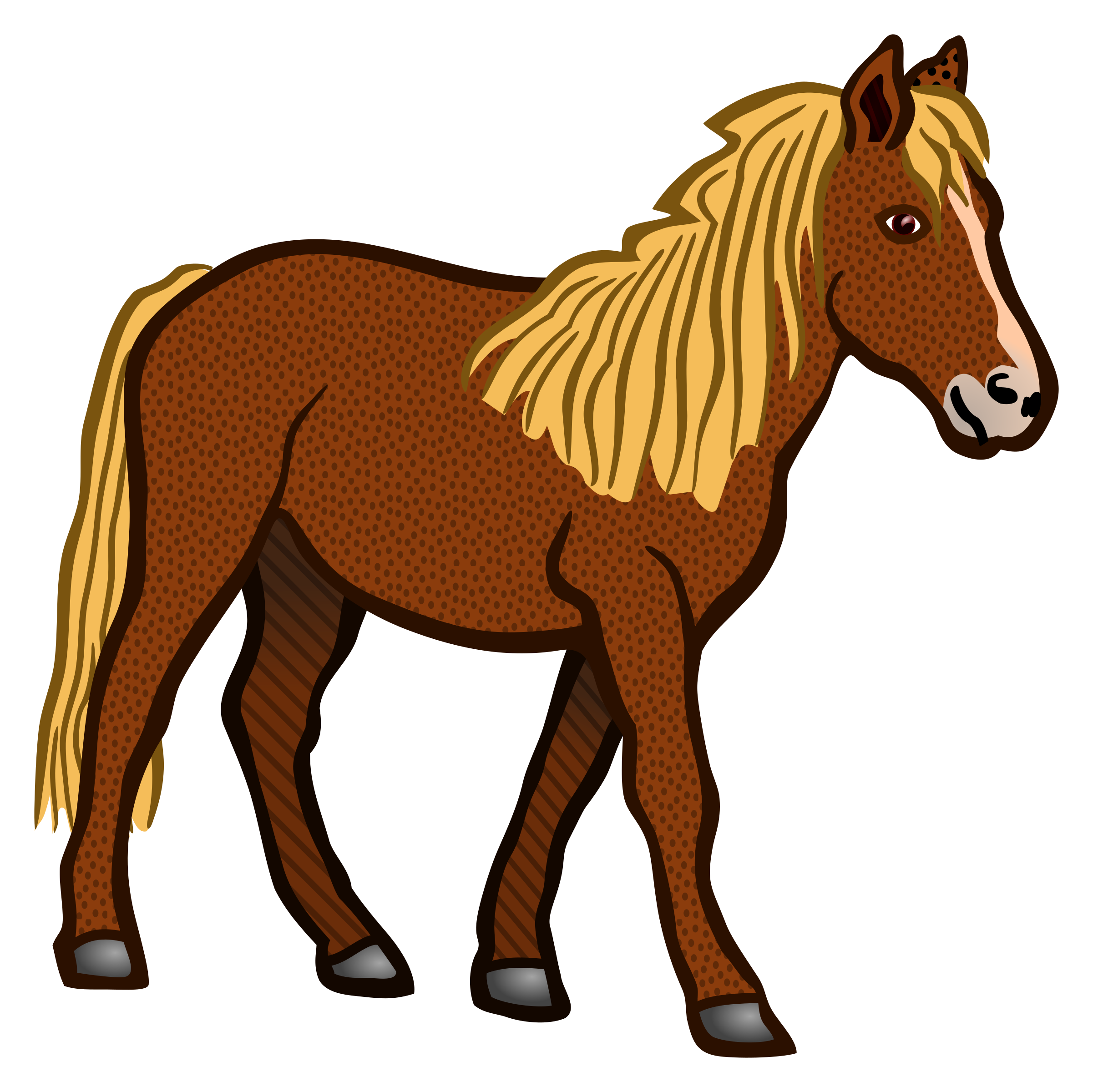 Coloured big image png. Animals clipart horse
