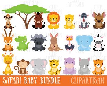 Animals clipart jungle. Safari baby zoo