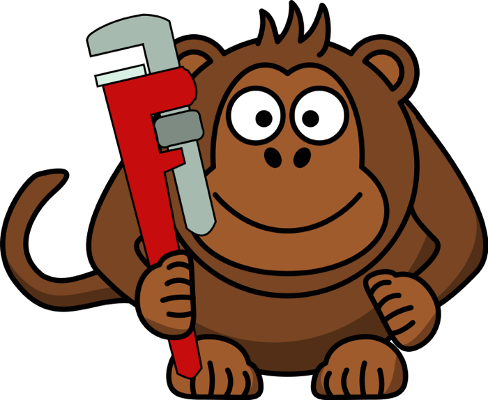 Free wrench. Animals clipart monkey