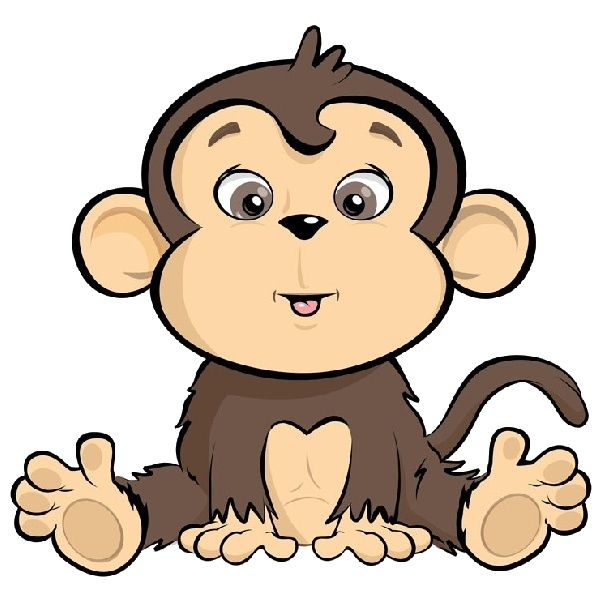 Animals clipart monkey. Sitting in a bucket