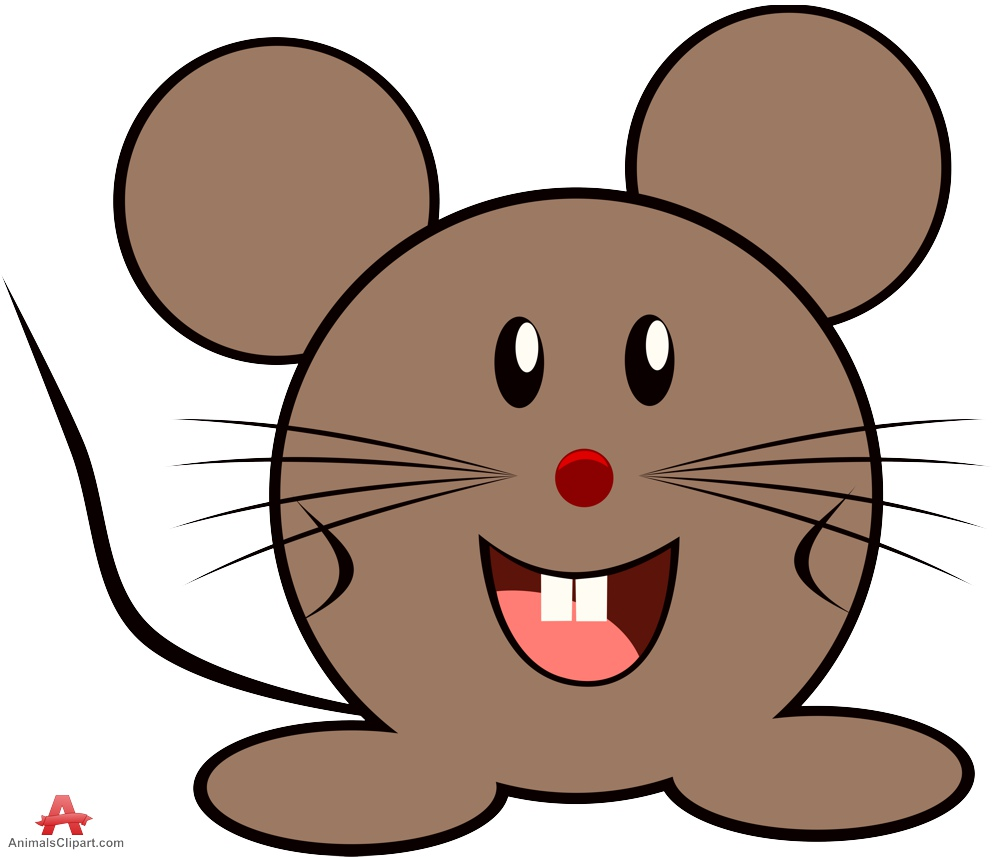 Animals clipart mouse. Happy cartoon character free