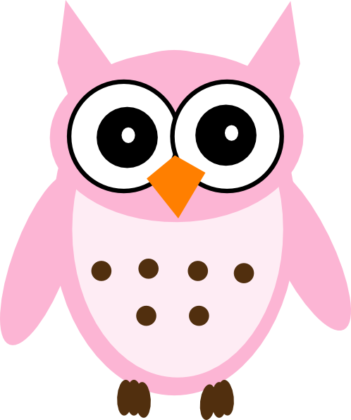 Animals clipart owl. Pink craft projects clipartoons