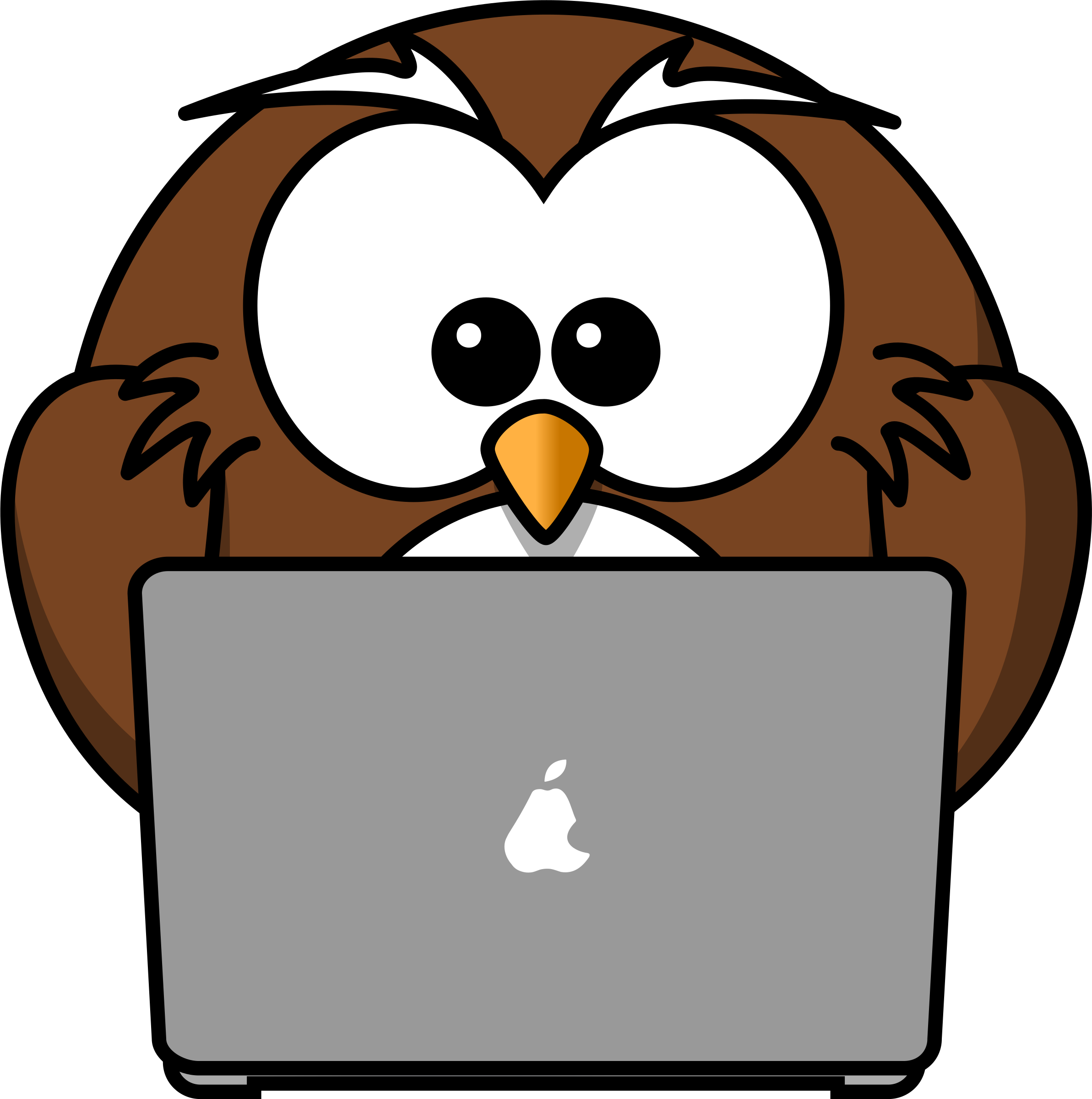 Animals clipart owl. With notebook big image