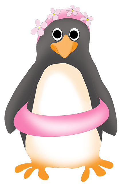 Funny clip art with. Animals clipart penguin