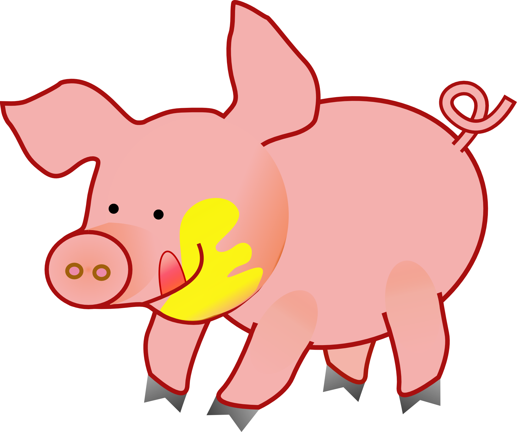 Animals clipart pig. Happy animal png k