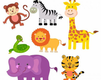 Zoo . Animals clipart printable