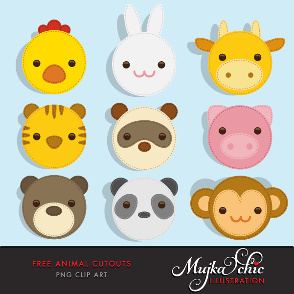 Free animal cutout mujka. Animals clipart printable