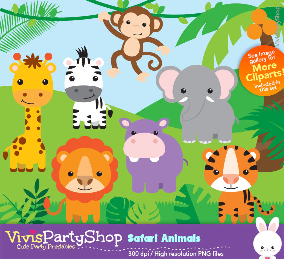 Safari instant download png. Animals clipart printable