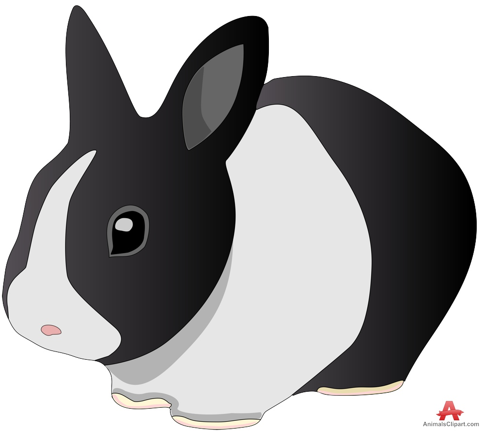 Animals clipart rabbit. Black and white free