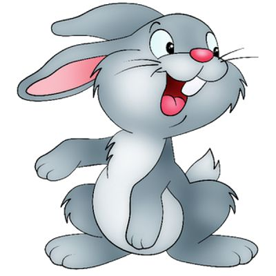 Moving bunny clip art. Animals clipart rabbit