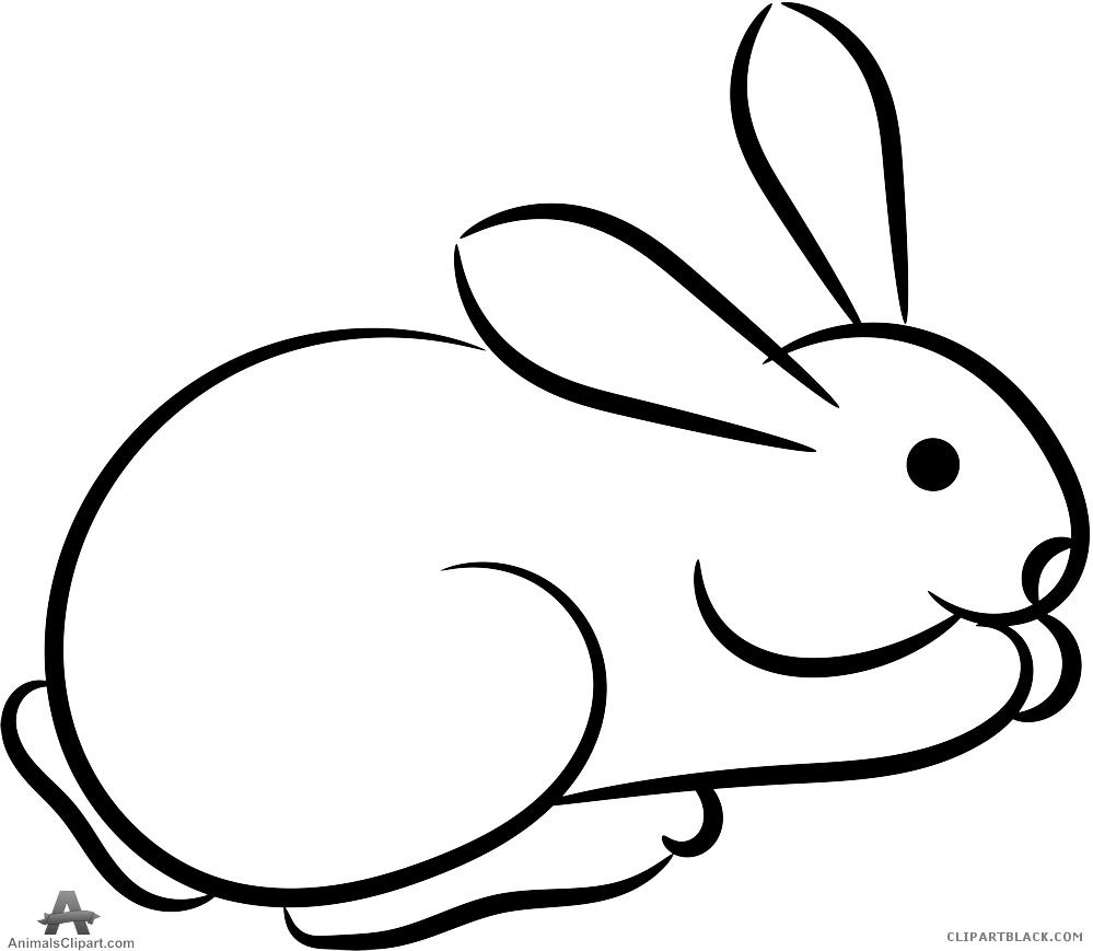 Outline clipartblack com animal. Animals clipart rabbit