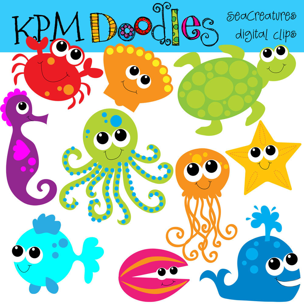 Cute . Animals clipart sea