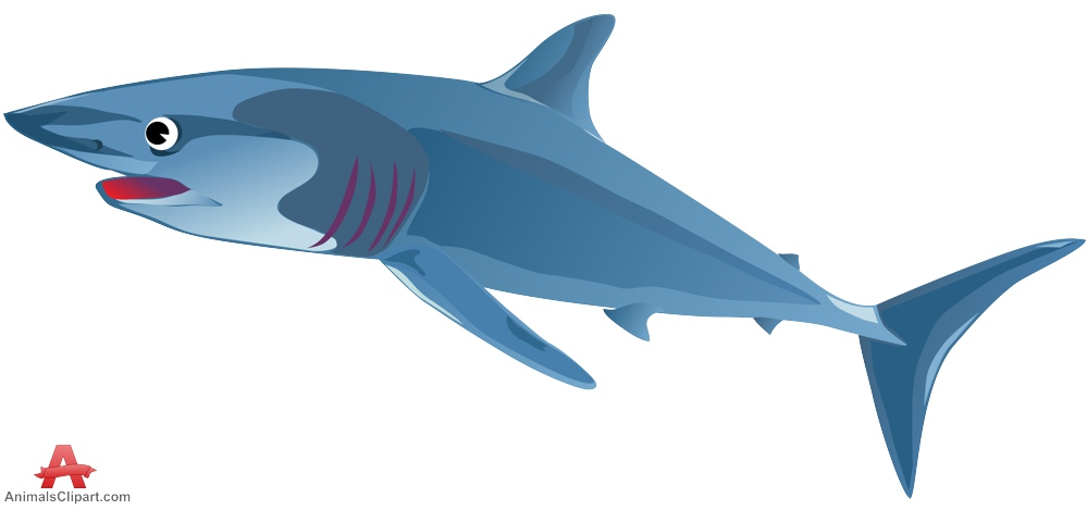 Blue design free download. Animals clipart shark