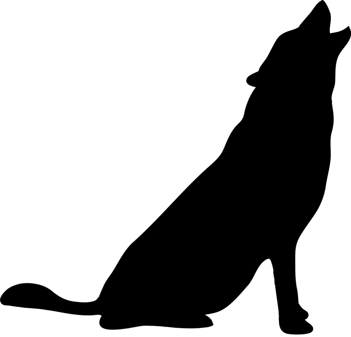 Animal clip art howling. Animals clipart silhouette
