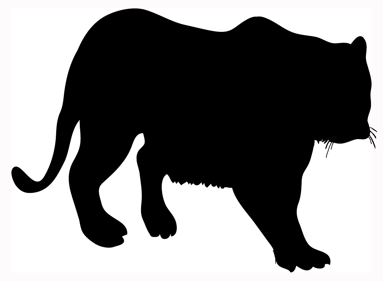 Animal clip art big. Animals clipart silhouette