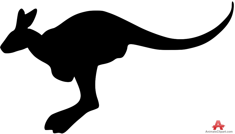 Kangaroo animal free design. Animals clipart silhouette