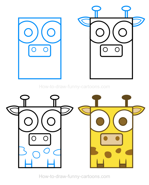 Can be drawn inside. Animals clipart simple