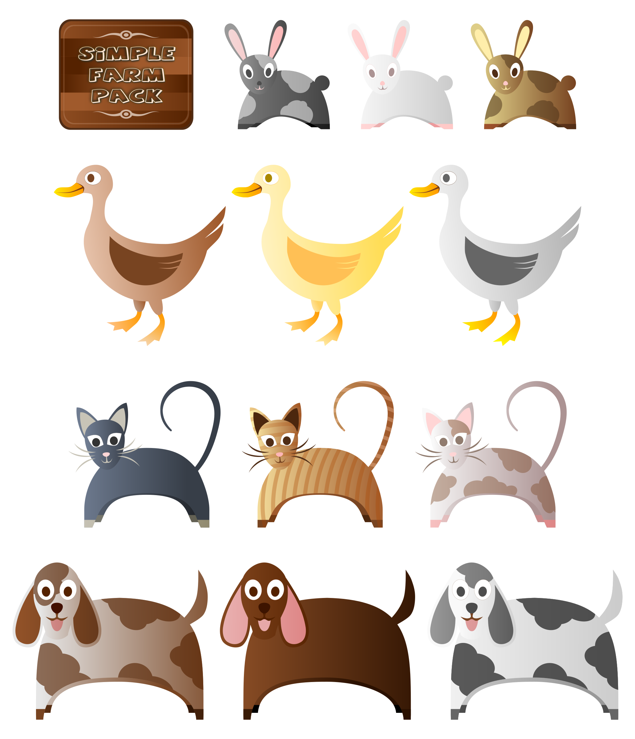 Animals clipart simple. Farm big image png