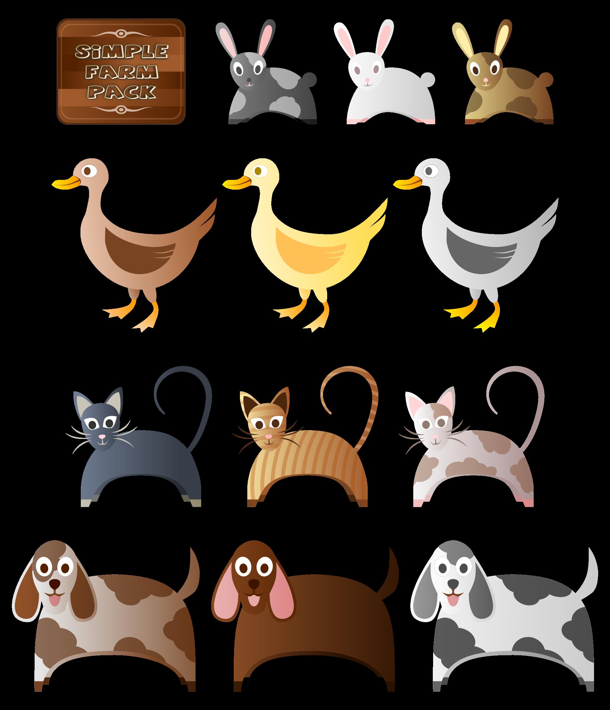 Farm big image png. Animals clipart simple