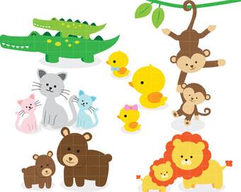 Safari clip art baby. Animals clipart transparent background
