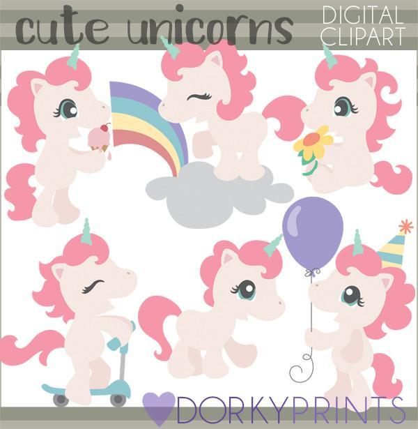 Dorky doodles. Animals clipart unicorn