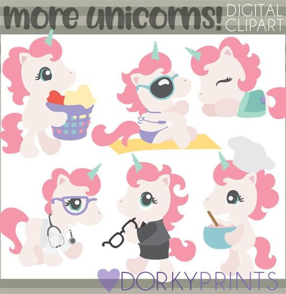 Animals clipart unicorn. Dr chef business woman