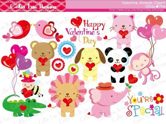 Animals . Baby clipart valentine