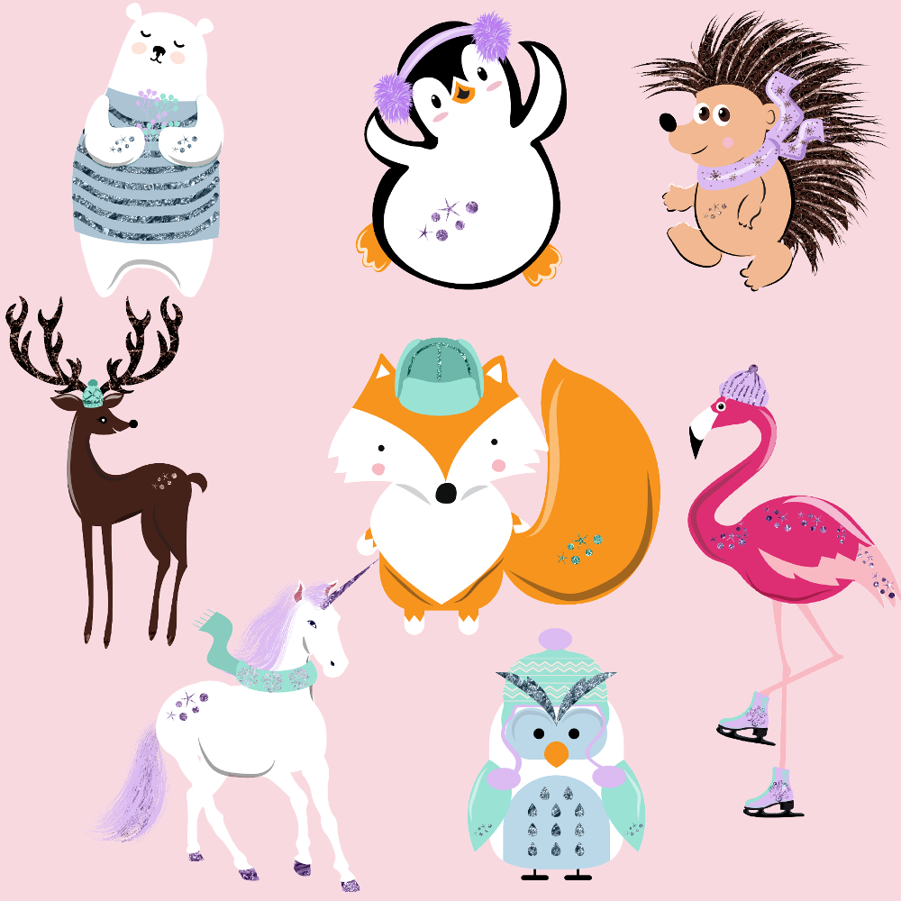 By fantasy clipa design. Animals clipart winter