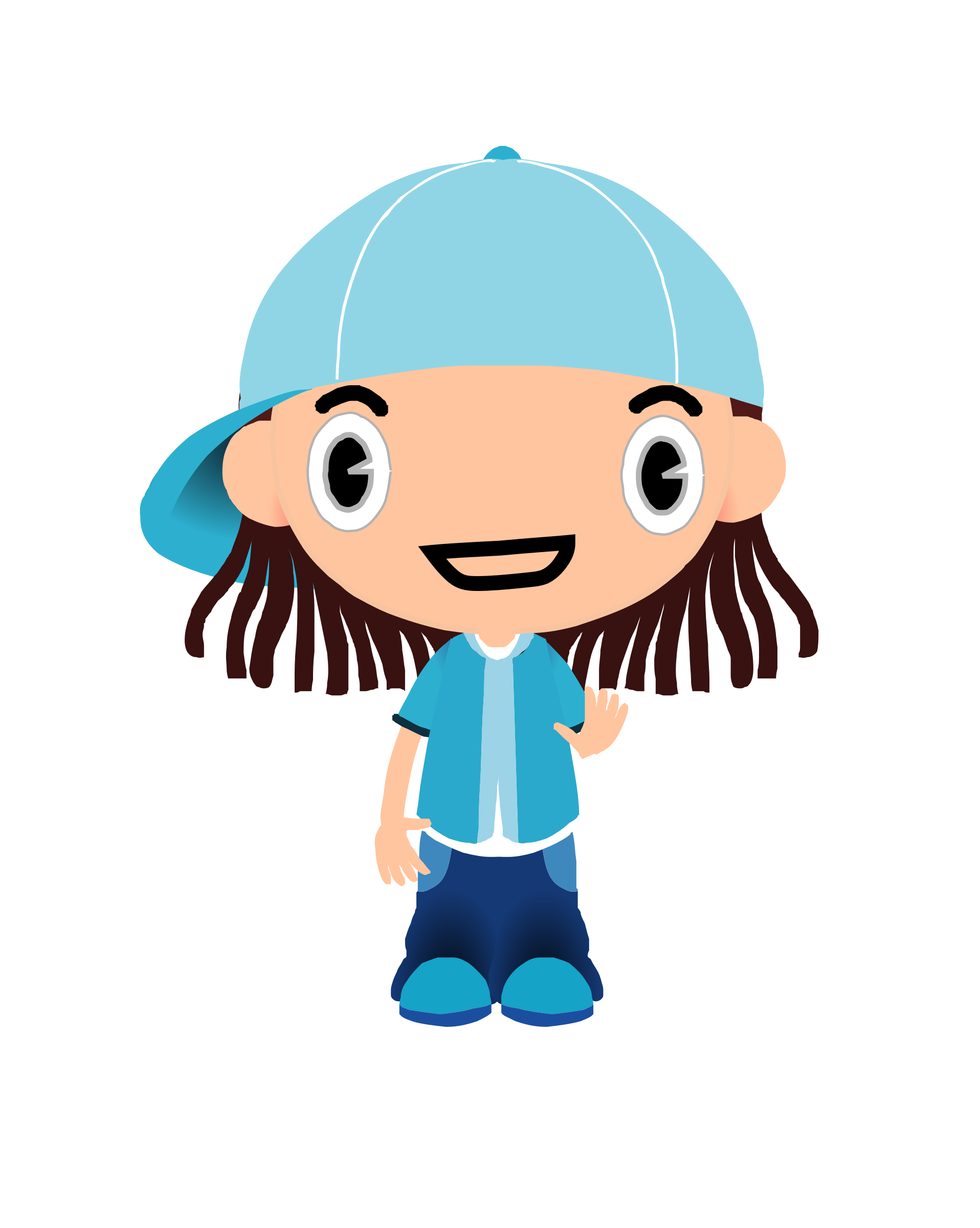 Boy clipart animated. Animation of cappy big