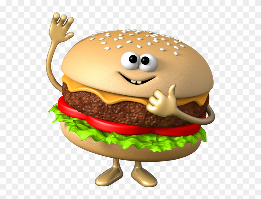 Cheeseburger clipart animated. Hamburger vegetable burger cartoon