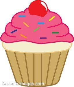 Animated clipart cupcake. Cute cartoon cupcakes