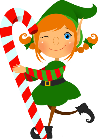 moving clipart elf