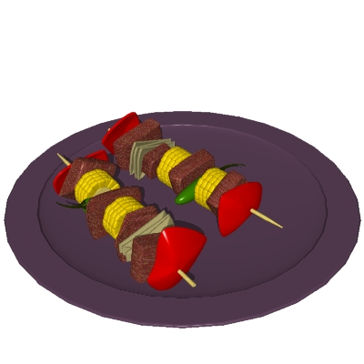 Animated clipart food. Free animations kebabs
