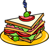 Food clipart. Free animations sandwich