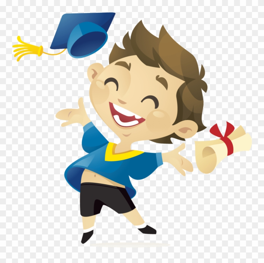 Free png download kids. Graduate clipart excited