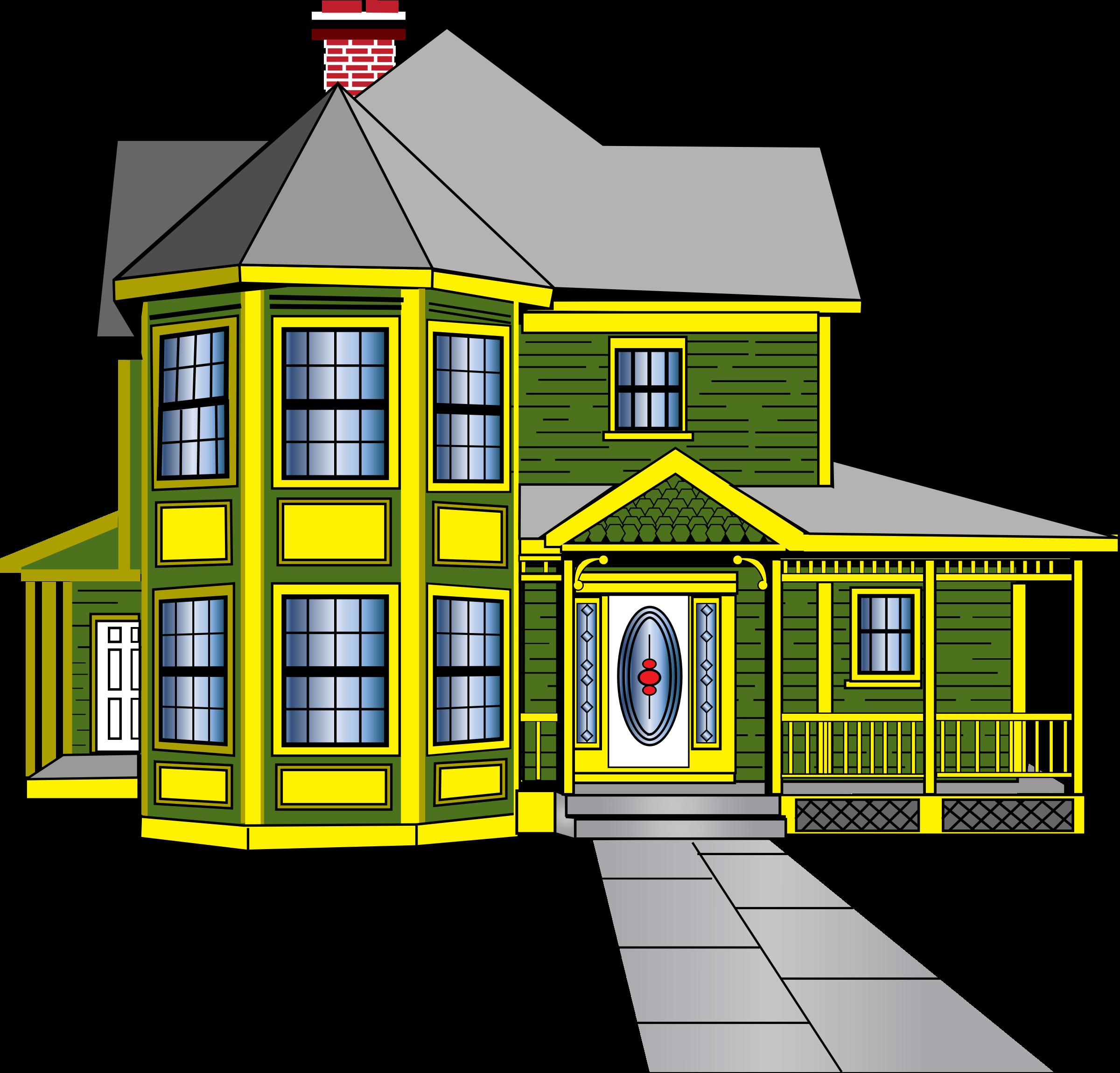 birdhouse. Clipart house yard