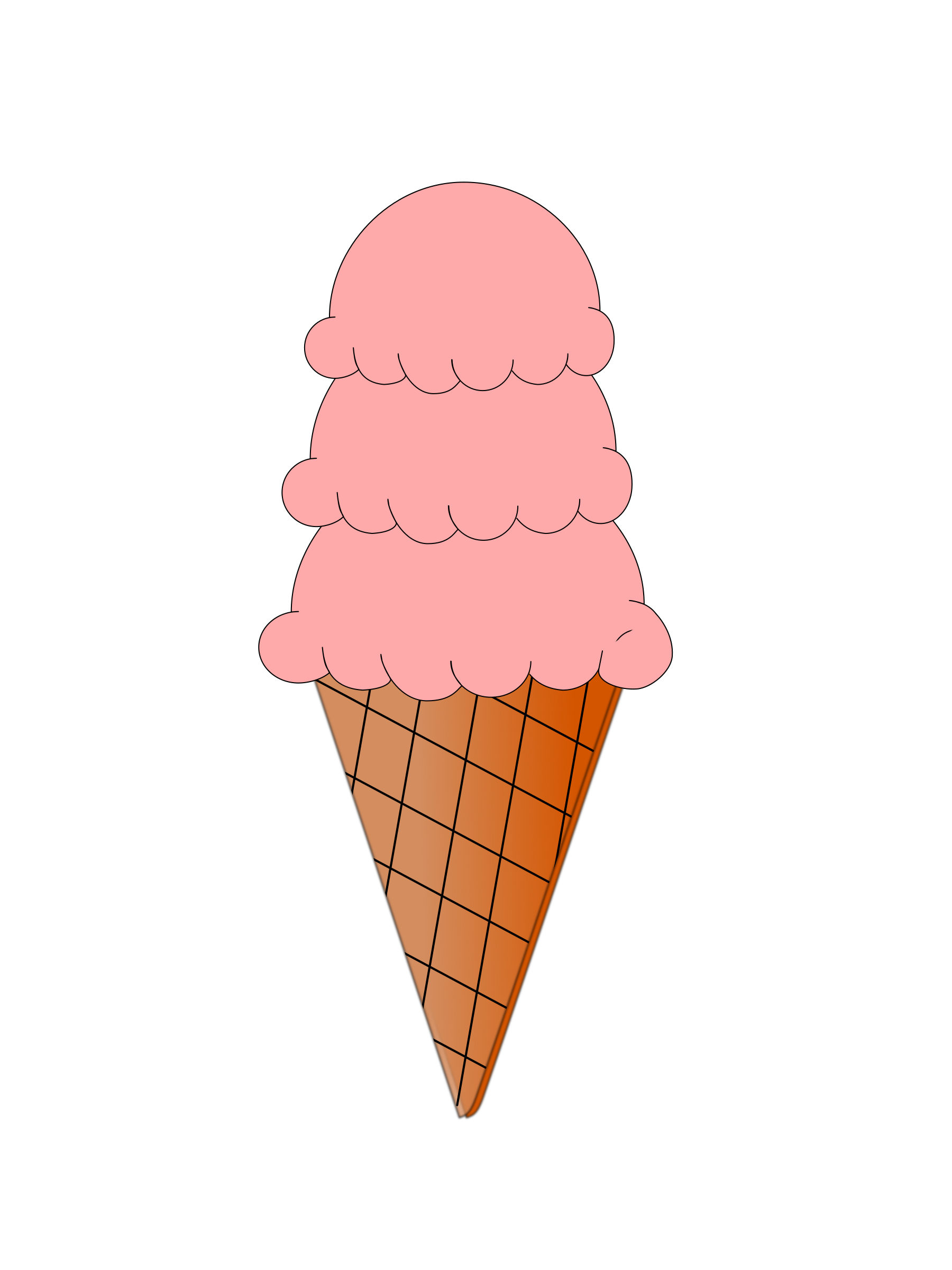Ice cream and sugar. Icecream clipart small