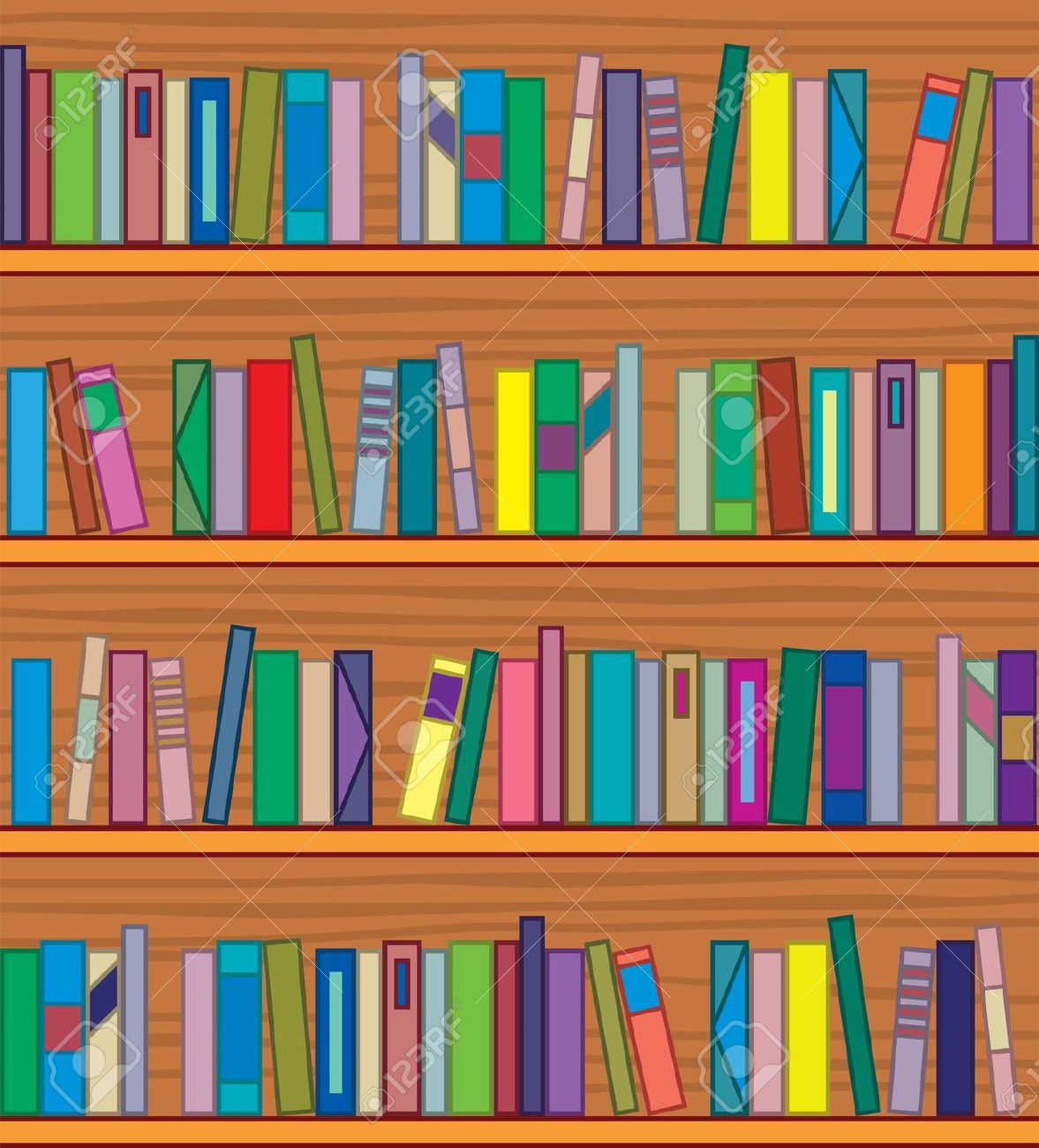 Background clipart library. Of books in a