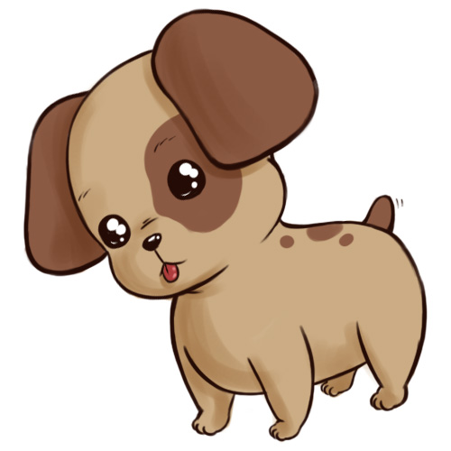 Free cute dog download. Clipart puppy animated