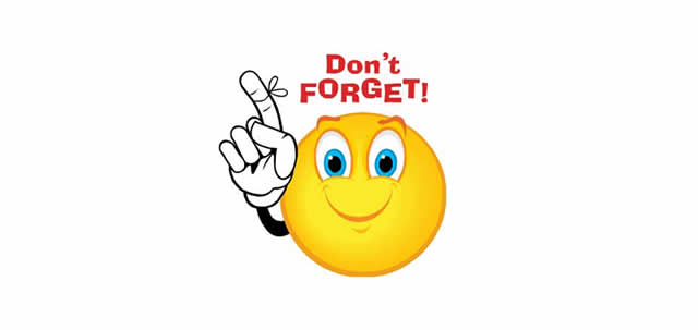 Smiley clipart reminder. Free clip art download
