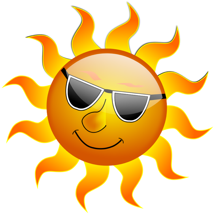 Sun graphics of suns. Clipart sunglasses colored