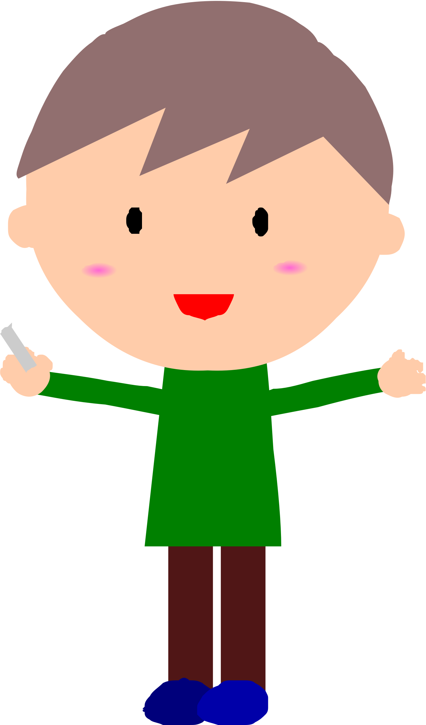Animation of with chalk. Animated clipart teacher