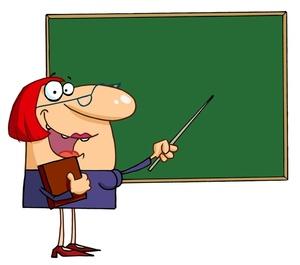 Animated clipart teacher. Free for teachers