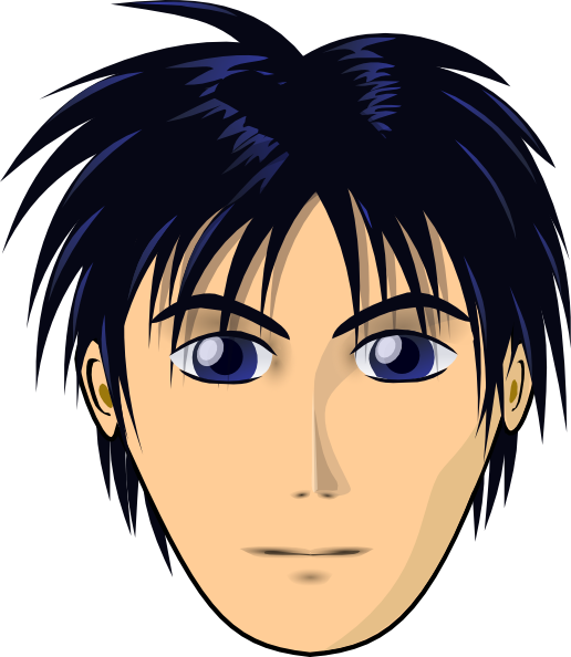 Anime clipart animated. Adult person cartoon head