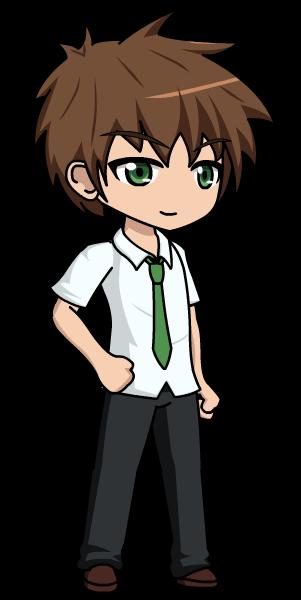 School gacha by lunimegames. Anime clipart anime boy